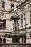 Vienna Opera House fountain Royalty Free Stock Images