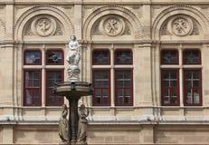 Vienna Opera House fountain Royalty Free Stock Photos
