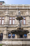 Vienna Opera house fountain statues Austria Europe Royalty Free Stock Images