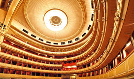 Vienna Opera interior. Wide angle view stock photos