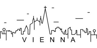 Vienna outline icon. Can be used for web, logo, mobile app, UI, UX vector illustration