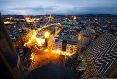 Vienna, paesaggio urbano di Wien Fotografie Stock