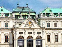 Vienna. Palace beautiful architecture from Austria Stock Images