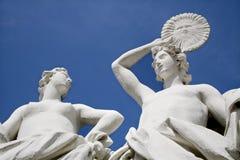 Vienna - palazzo di belvedere - statua fotografie stock