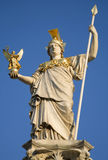 Vienna - Pallas Athena fountain and parliament Royalty Free Stock Photography