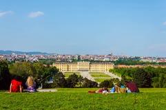 Vienna panorama and Schonbrunn Palace Stock Photography