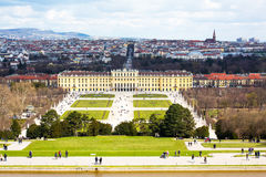 Vienna panorama and  Schonbrunn Palace view from Stock Photos