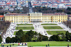 Vienna panorama and  Schonbrunn Palace view from Gloriette Stock Photo