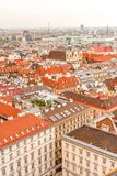 Vienna city panorama view from St. Stephan's cathedral Austria stock photos