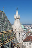 Vienna panoramic view from St.Stephans Cathedral Stock Photos