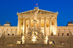 Vienna Parliament. Vienna, Austria - The parliament at night Royalty Free Stock Photography