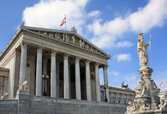 Vienna Parliament Royalty Free Stock Image