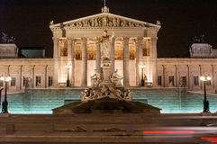 Vienna Parliament by night Royalty Free Stock Images