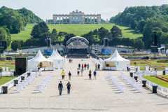 Vienna Philharmonic rehearsal in Schonbrunn gardens, Vienna Royalty Free Stock Photo