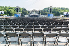 Vienna Philharmonic rehearsal in Schonbrunn gardens, Vienna Royalty Free Stock Images
