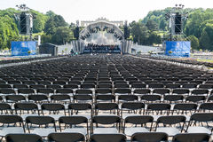 Vienna Philharmonic rehearsal in Schonbrunn gardens, Vienna Stock Photography