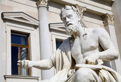 Vienna - philosopher for fienna parliament Stock Photos