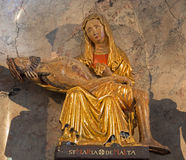 Vienna -  Pieta polychrome statue from Malta in side chapel of baroque church Maria Treu Royalty Free Stock Photo