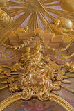 Vienna - Polychrome baroque Madonna statue from side chapel of st. Annes church. Stock Images