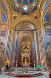 Vienna - Presbytery and altar of Altlerchenfelder church Royalty Free Stock Photography