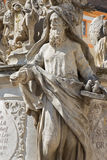 Vienna - Prophet statue. Detail of baroque column church by Maria Treu. Royalty Free Stock Photo