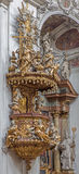 Vienna - Pulpit of baroque Servitenkirche - church completed in 1670. Royalty Free Stock Image