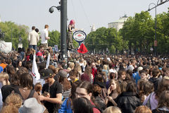 Vienna, pupils strike in front of parliament Royalty Free Stock Image