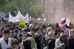 Vienna, pupils strike in front of parliament Stock Photography