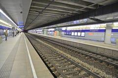 Vienna railway. Vienna, Austria - April 25, 2015: The main railway station in Vienna. Shot taken on April 25th, 2015 Stock Photo
