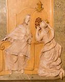 Vienna - Relief from chapel of st. John the Nepomuk in st. Annes church Stock Image