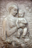 Vienna - Relief of Virgin Mary mother of God. By Rossellino in Minoriten church on January 15, 2013 in Vienna Royalty Free Stock Image