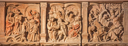Vienna - reliefs of Jesus torture from cathedral Royalty Free Stock Photo