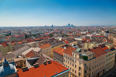 Vienna from the roof of House of the Sea Royalty Free Stock Photo