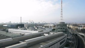 Vienna rooftop shoot stock video footage