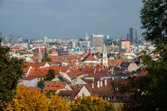 Vienna rooftops on bright Royalty Free Stock Image