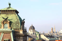 Vienna rooftops cityscape Royalty Free Stock Image