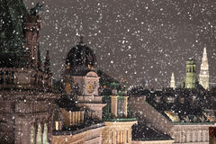 Vienna rooftops cityscape. With snow Royalty Free Stock Photography