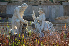Vienna - Ruins in gardens of Schonbrunn palace. Royalty Free Stock Photography