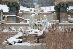 Vienna - Ruins in gardens of Schonbrunn palace in winter. Stock Photos