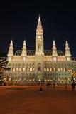 Vienna's City Hall at night Stock Photography