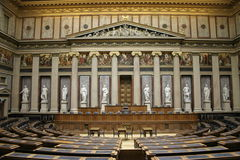 Vienna's parliament. On a holiday Stock Image