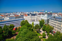 Vienna's residential district from above Royalty Free Stock Image