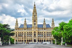 Vienna's Town Hall (Rathaus) at daytime. Stock Photo