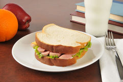 Vienna sausage sandwich Royalty Free Stock Images