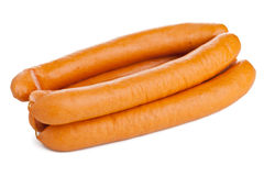 Vienna sausages on white Stock Photography