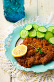 The Vienna schnitzel Stock Images
