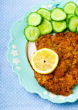 The Vienna schnitzel Royalty Free Stock Photography