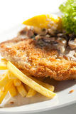 Vienna Schnitzel Stock Photography