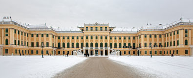 Vienna - Schonbrunn palace from east in winter Stock Images