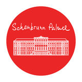 Vienna Schonbrunn Palace vector red circle icon in Stock Photos